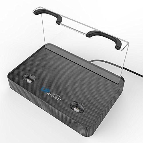 1 Wireless Magnetic Ladestation für HTC Vive Dual Griff Controller Lagerung Ladeständer VR Zubehör USB Lade Micro USB Double Magnetport ()