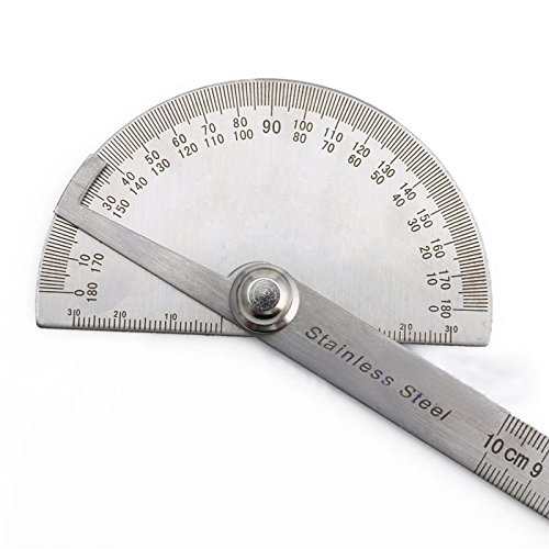 Soviton Edelstahl 180Grad Winkelmesser, Winkelmessgerät, Meßlinealwerkzeug