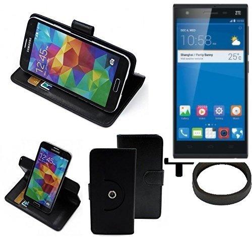 K-S-Trade® Hülle Schutzhülle Case Für -ZTE Star 2- + Bumper Handyhülle Flipcase Smartphone Cover Handy Schutz Tasche Walletcase Schwarz (1x)