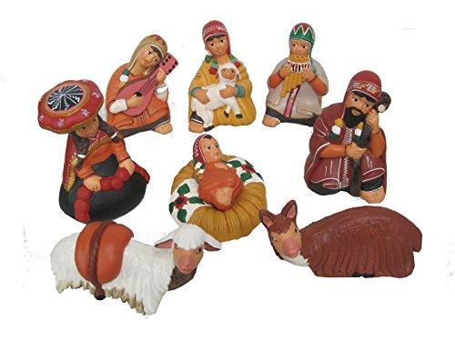 Discount ethnique – Crèche terre cuite Cuzco Set H.14 cm