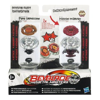 rs - Attack Attack Faceoff 2-Pack Poison Fury Showdown [Fury Capricorn vs. Poison Pegasus] (Beyblade Metal Fury Spielzeug Pegasus)
