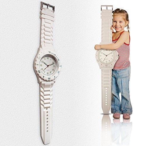Kinderwanduhr Wanduhr Kinderuhr Lernuhr Kinder Uhr Quarzuhr Wand Uhr Analog 90cm
