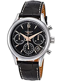 Longines Heritage Chronograph Automatic Stainless Steel Mens Strap Watch L2.742.4.56.0
