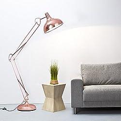 Lámpara de pie de cobre 1,8 M de altura x 1 E27-con interruptor de pie