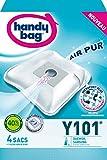 Handy Bag -Y101 - 4 Sacs Aspirateurs, pour Aspirateurs Daewoo et Samsung, Fermeture Hermétique, Filtre Anti-Allergène, Filtre Moteur