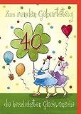 Witzige A4 Geburtstagskarte 40