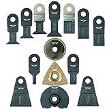 14 x TopsTools RVK14 Mix Klingen für Draper MT250A 23038, MT250 31328, Wickes 235510, RENOVATOR Multitool Multi Tool Multifunktionswerkzeug Oszillierwerkzeug Zubehör