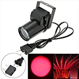 Docooler CA 90-240V 3W Mini Solo Color Pinspot Efecto Etapa Luz Lámpara LED para Esquina