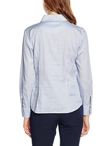 GERRY WEBER Edition Damen Bluse Mehrfarbig (Hellblau-Weiß 8132)