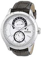 Reloj Festina F16573/2 de cuarzo para hombre con correa de piel, color gris de Festina