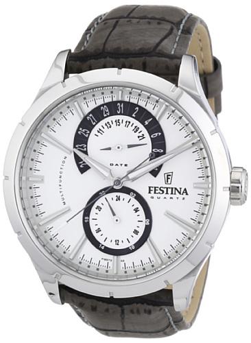 Festina Herren-Armbanduhr XL Klassik Retro Chronograph Edelstahl F16573/2