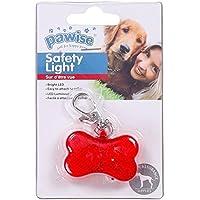 Pawise 11573 LED Blinklicht Hunde Leuchtanhänger Knochen, Flashing Light mit 2 LEDs