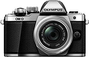 Olympus E-M10 Mark II Appareil photo numérique compact avec Objectif 14-42 II Argent