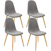 4X Chaise Design Avec Revtement En Tissu