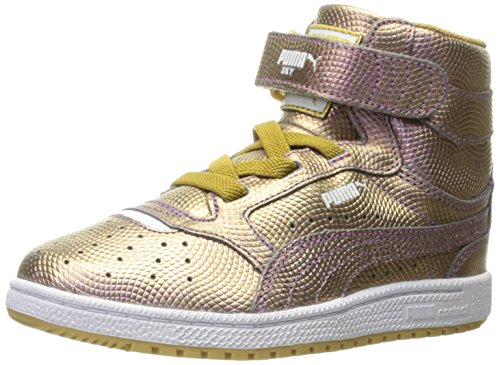 Puma Sky II Hi Holo PS Cuir Baskets gold