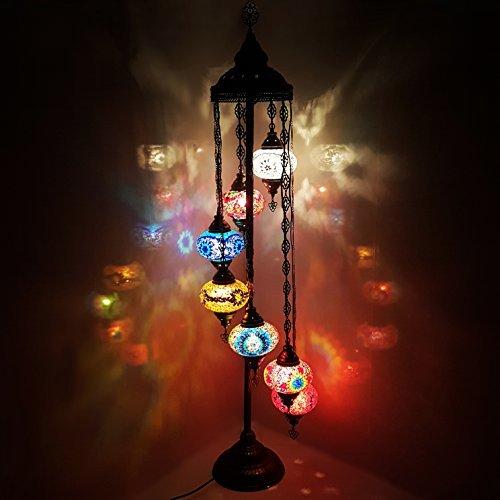 Turkish Moroccan Tiffany Style Glass Mosaic Floor Lamp Night Light - MC X 7B_FLR LAMP**