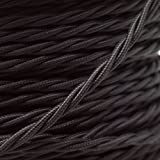 VINTAGE TWISTED FABRIC LIGHTING CABLE | Midnight Black | 3 core