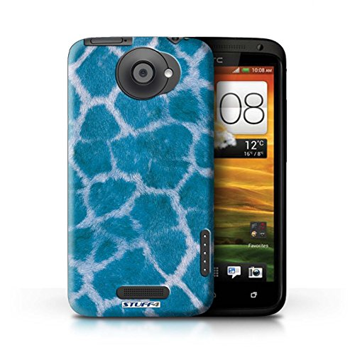 Kobalt® Imprimé Etui / Coque pour HTC One X / Rose conception / Série Girafe animale Peau/Motif Bleu