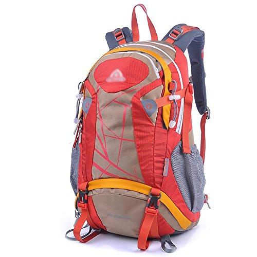 HWLXBB Outdoor Bergsteigen Paket Männer und Frauen 30L Wasserdichte Mehrzweck-Bergsteigen Tasche Wandern Camping Bergsteigen Rucksack 4*