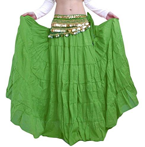 YiJee Danza del Ventre Boemia Stile Lunga Donne Halloween Costume Verde