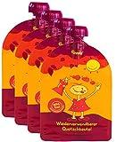 Wiederverwendbare MINI Quetschies/Quetschbeutel, 100ml (4er Pack) - divata | Kleine Größe - ideal für Babys & Kleinere Kinder