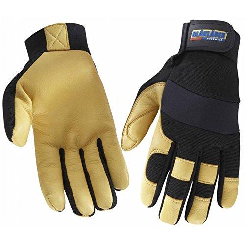 Handschuh Handwerk Schwarz/Gelb 10 -