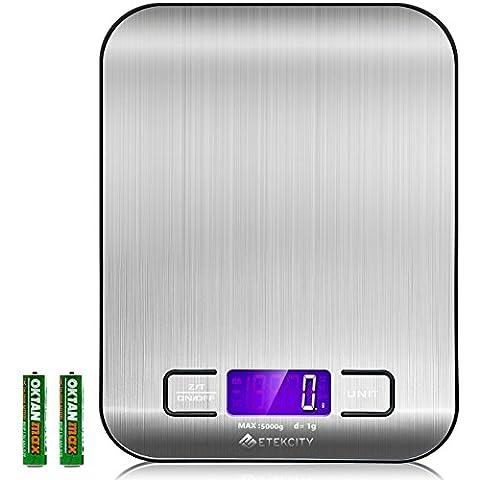 Etekcity Balance de Cuisine Electronique 5 kg/1g en Acier Inox,