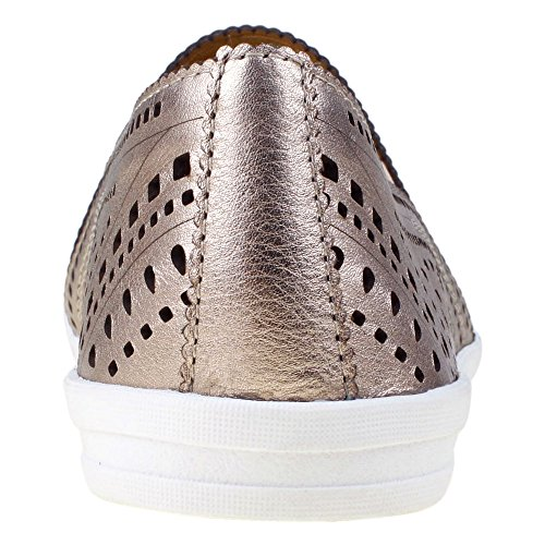 Earth Tangelo Femmes Cuir Mocassin Champagne