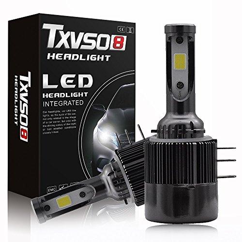 Chips COB H15 LED Headlight Bulbs, 11000Lm 6000K Kit di conversione all-in-one estremamente luminoso, ventole e azionamenti integrati