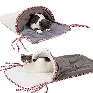 Tianya Kitty Nest Bed Playing Tunnel Warm House Cat Litter Cat Sleeping Bag Cat Sleeping Bag Mat Pet Sleeping Bag Pet House by Tianya