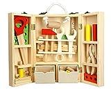 Construcción Juguetes Niños Herramientas de Madera Juego Caja Carpintero 35 Pcs DIY Toys 4 Años y Más