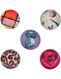 Morella–® Mujer de Click Button 5unidades Botones de presión Set Love y búho