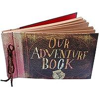 MAMACHU Álbum Fotos,Our Adventure Álbum de Recortes Scrapbooking DIY Vintage Libro de Memoria de Viaje/Visitas de Boda San Valentín/Cumpleaños/Aniversario/Día de la Madre