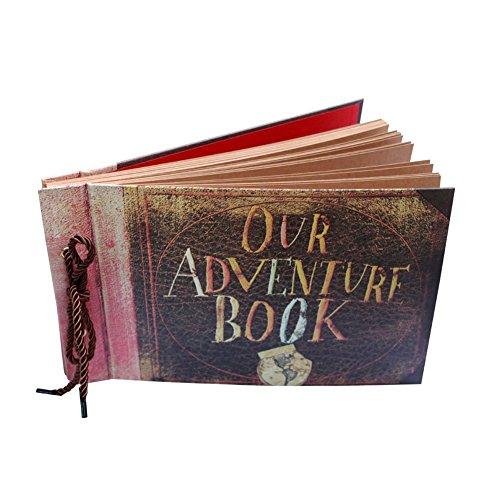 Scrapbook foto album,our adventure book vintage fai da te retrò memoria libro degli ospiti di nozze per san valentino festa della mamma festa del papà giorno dell'anniversario compleanno natale