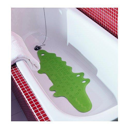 Deluxe Qualität Wanneneinlage Krokodil-Form Rutschfeste Farbe Grün–(90x 30cm)