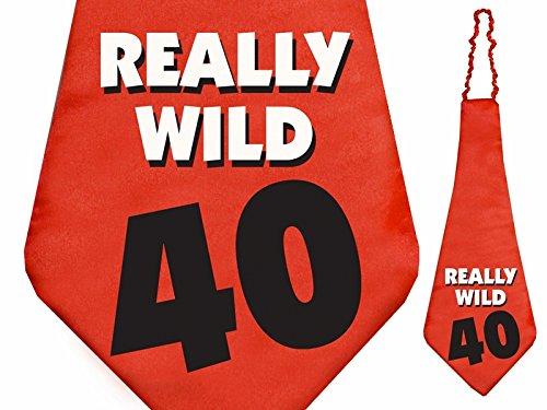 Party- Krawatte 40. Geburtstag