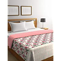 Portico York Cadence Printed Cotton 144 TC King Size Double Bedsheet with 2 Pillow Cover-8045291 (Multicolour, 274X274 cm)