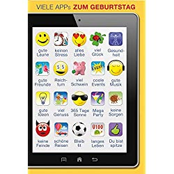 A4 XXL Geburtstagskarte Viele Apps Gute Laune Keinen Stress Gute Ideen