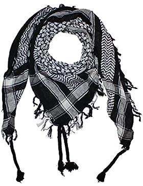 Superfreak® Pañuelo pali con color de base negro°chal PLO°100x100 cm°Pañuelo palestino Arafat°100% algodón – ¡...