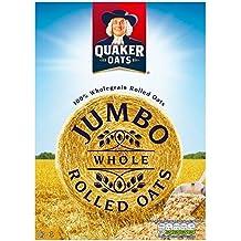 Quaker Jumbo Avena Copos De Avena Gachas 1Kg (Paquete de 6)