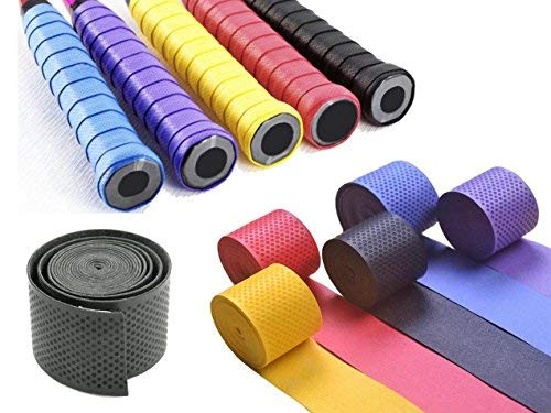 Konex Bloomun Anti-slip Synthetic Grip Wrap Polyurethane Badminton/Tennis/Squash Racket Handle over Grips (110X2.5 cm, Thickness : 0.75 mm, Assorted) 3