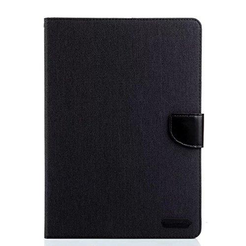Sunroyal®Carcasa Wallet Bookstyle Libro Funda para Apple iPad 2 3 4 ablet PC Protectora de Piel con Soporte Sólido Plegable Cierre Magnético PU Material Interior del Gel Cubierta Negro Cáscara Cuero Shell