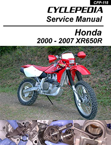 2000-2007 Honda XR650R Service Manual (English Edition)