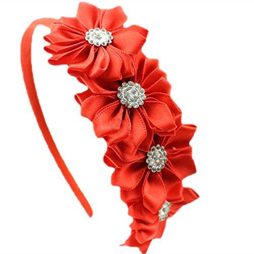 HABI 1 stk mehrfarbig Haarspange Haarband Accessoire mit Blumen Deko für Kinder (Kostüme Und Schnelle Diy Einfache)