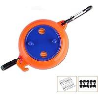 Alihoo Corde à linge rétractable de 8 m - Portable - Pour le camping et les voyages - Coupe-vent - Orange