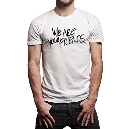 We Are Your Friends Movie Summer WAYF Black Shadow Logo Background Herren T-Shirt Weiß
