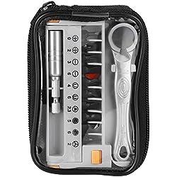 """12 in 1 Portable Mini 1/4""""Quick Ratsche Steckschlüssel & Schraubendreher Bits Set Hand Repair Tool für die Reparatur von Haushaltsgeräten"""