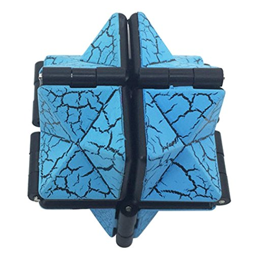 Decompression Toys,Saingace Fissure Infinity Cube For Stress Relief Fidget Anti Anxiety Stress Funny EDC Toy (blue)