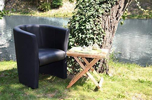 TOP Sessel Clubsessel Loungesessel Cocktailsessel Kunstleder Schwarz W042 01 - 5