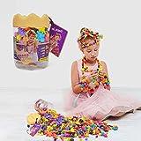 Wishtime Pop-Schnapp-Perlen, kreatives Tier-Schmuck-Set zur Herstellung von Kopfbedeckungen, Ohrringen, Halsketten und Armbändern, für Kinder und Mädchen, 162 Teile